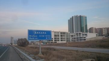 Arriving in Ankara