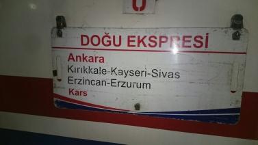 All aboard the Dogu Ekspresi - taking the train towards Georgia