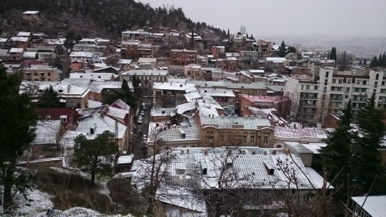 The Old Town under a dusting of new year snow