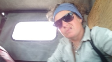Being bumoed around the back of a boiling hot jeep